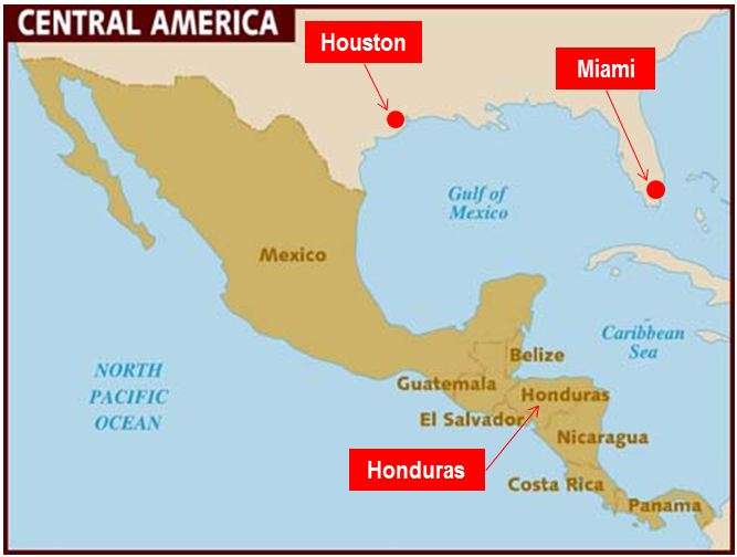 Where Is Honduras Where Is Honduras - Hondurus map