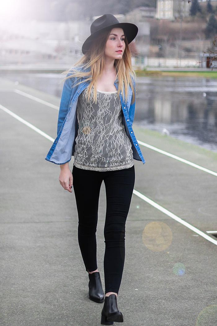 chemise jeans chloé