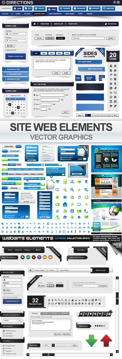 Vector Web Elements