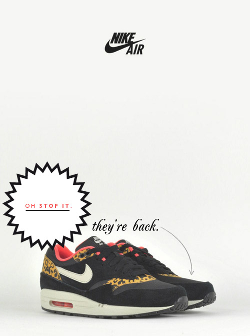 Nike Air Max 1 Black Gold Leopard trainers