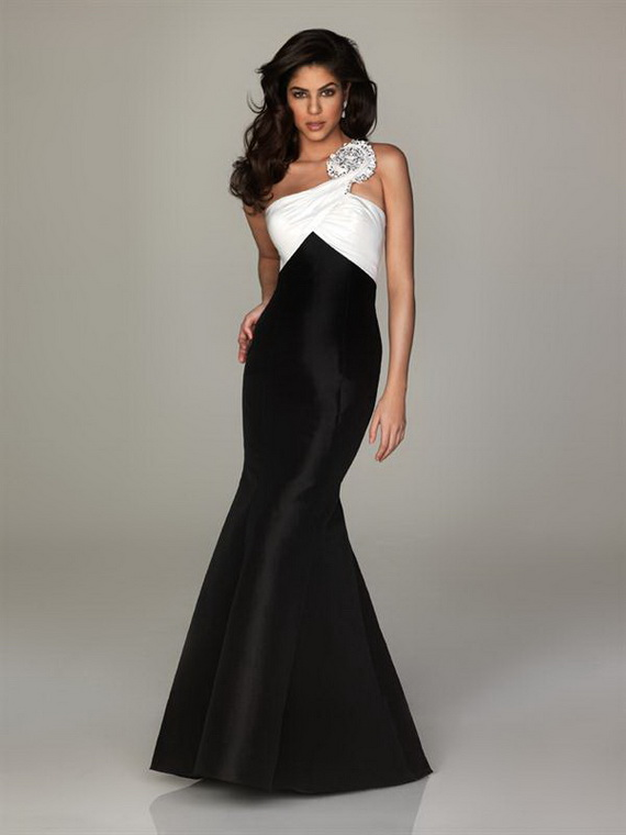 Black and white prom dresses bridal wedding dresses gown for Stunning dresses to wear to a wedding