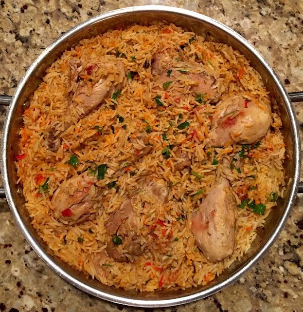 أسهل طريقة عمل أرز برياني بالدجاج
