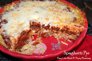 Spaghetti Pie - Easy Life Meal & Party Planning  A scrumptious dish that is easy to make, extremely tasty & lovely plated