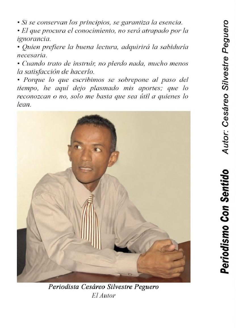 Contra portada: LIBRO PERIODISMO CON SENTIDO