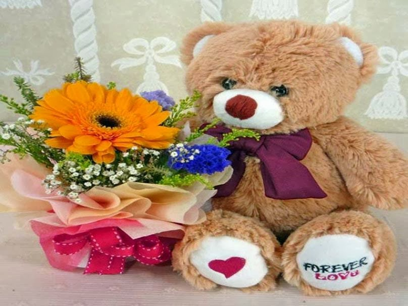 i-love-flowers-teddy-hd-wallpaper
