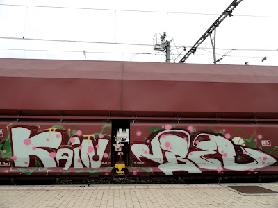 Freight train graff