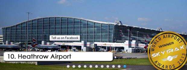 10. london heathrowinternational airport, london britania raya