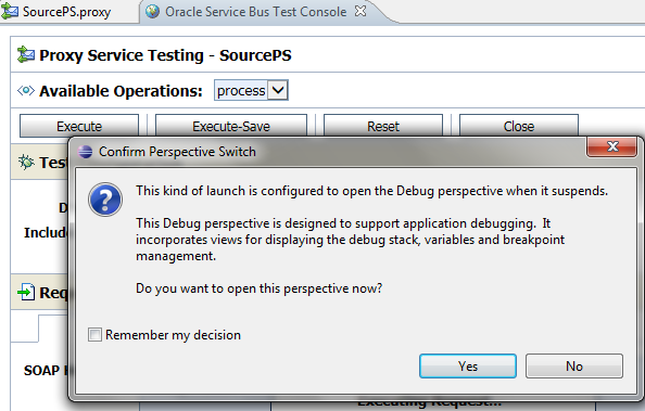 OSB Eclipse Debugger Proxy Testing