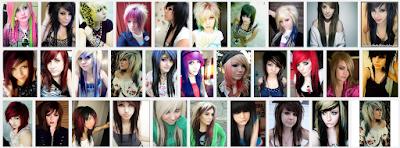 model gaya rambut emo pendek dan panjang pria dan wanita 13