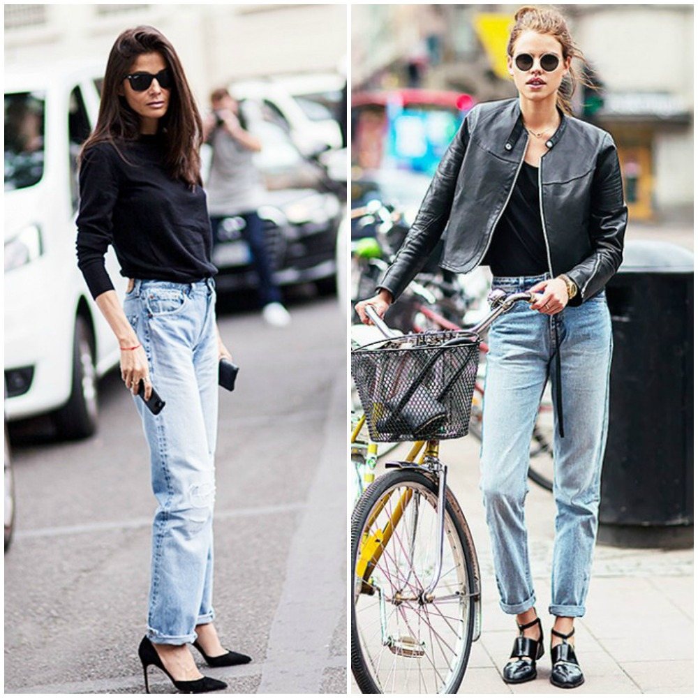 high waist rise boyfriend jeans - top uk fashion blog trends 2014 street style outfits