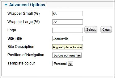 Make some changes to the Joomla site