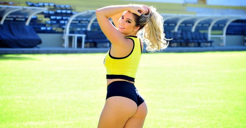 Tassia Alves, candidata do Criciúma Esporte Clube no Belas da Torcida (2014)