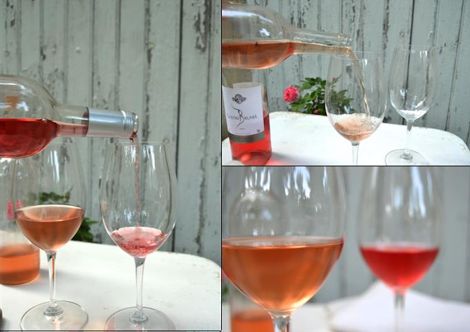 vinos rosados y su color