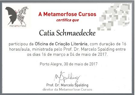 *Oficina de Criação Literária presencial com Prof.: Marcelo Spalding