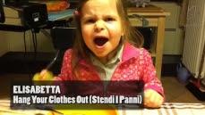 Petite fille de 5 ans  chante du Hard Rock