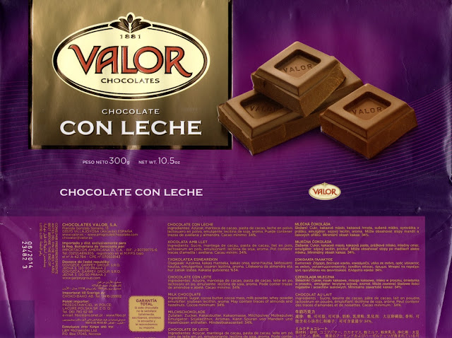 tablette de chocolat lait dégustation valor chocolate con leche