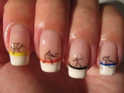 Olympics athletes nails