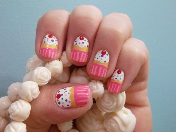 cupcake nail designs ideas-24