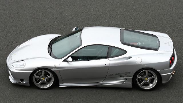 Silver Ferrari Car