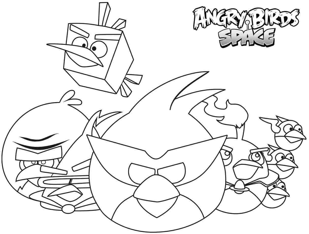 13 Mewarnai Gambar Angry Bird