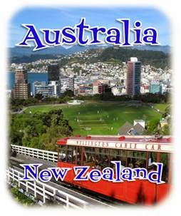 Sidewalk Safari - Link to Posts about Australia and New Zealand
