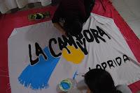 Jornada de flameadores en La Cámpora Laprida