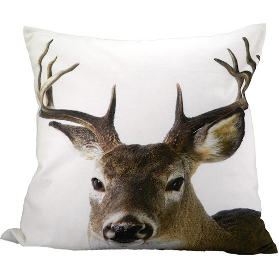 stag/deer head photo pillow