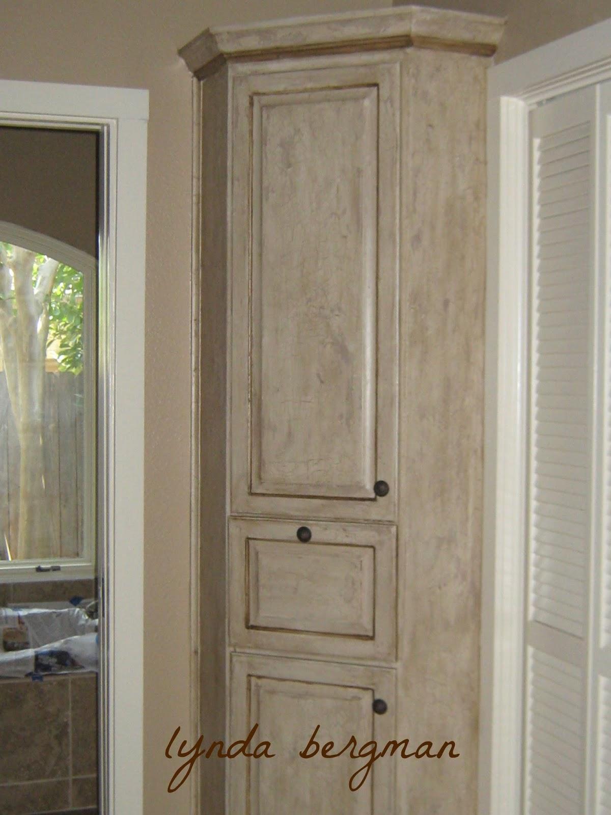 Distressed Bathroom Cabinet Lynda Bergman Decorative Artisan Distressed Faux Finish On