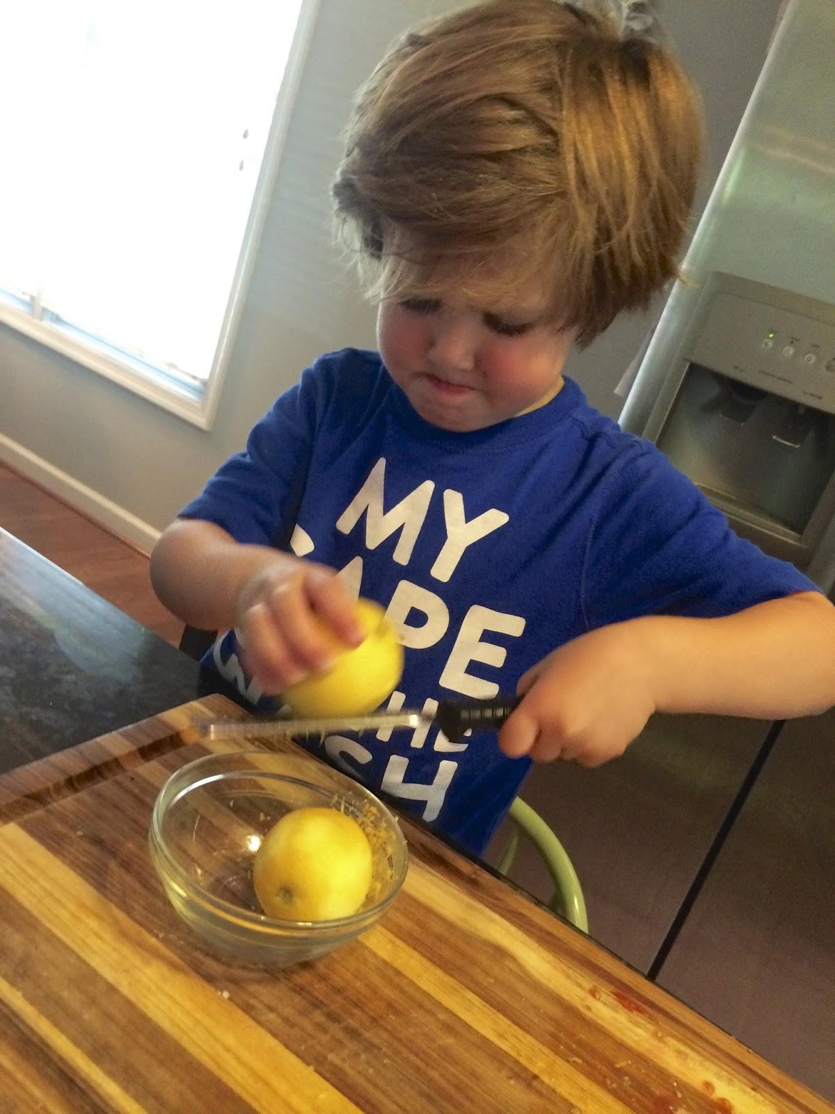 Boy Zests Lemon