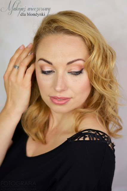 makijaż wieczorowy dla blondynki