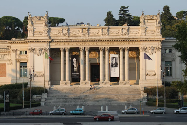 National Gallery of Modern Art is located near to Villa Borghese in Rome, Italy