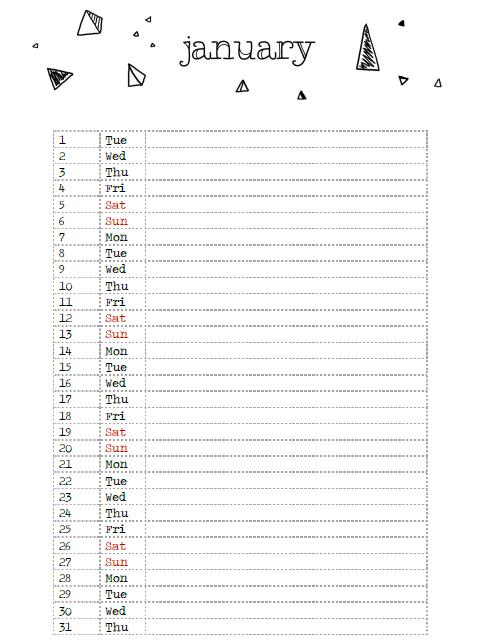 April Calendar List : Mirukukeki calendar download