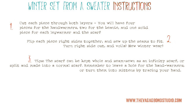 Winter Wear Upcycling Instructions, The Vagabond Studio, Tutorial