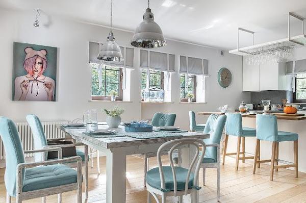 El estilo cl sico y los tonos pastel la revista de for Cortinas salon gris y blanco
