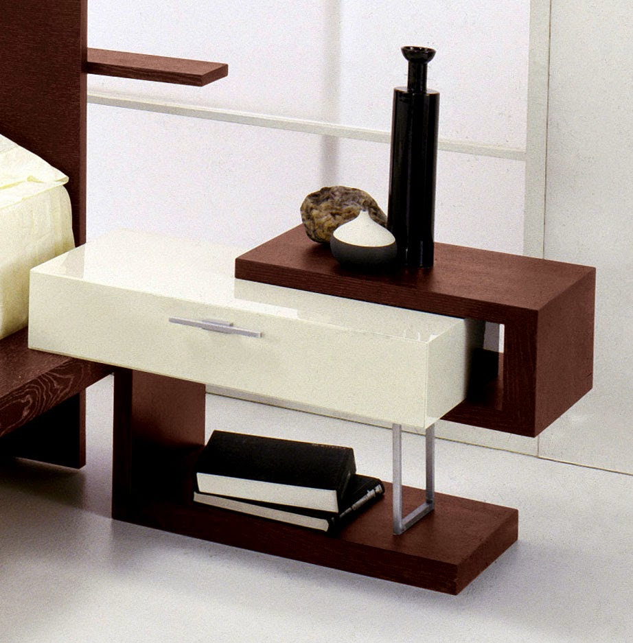 Home decor 30 unique ideas for bedroom nightstands for Modern end table ideas
