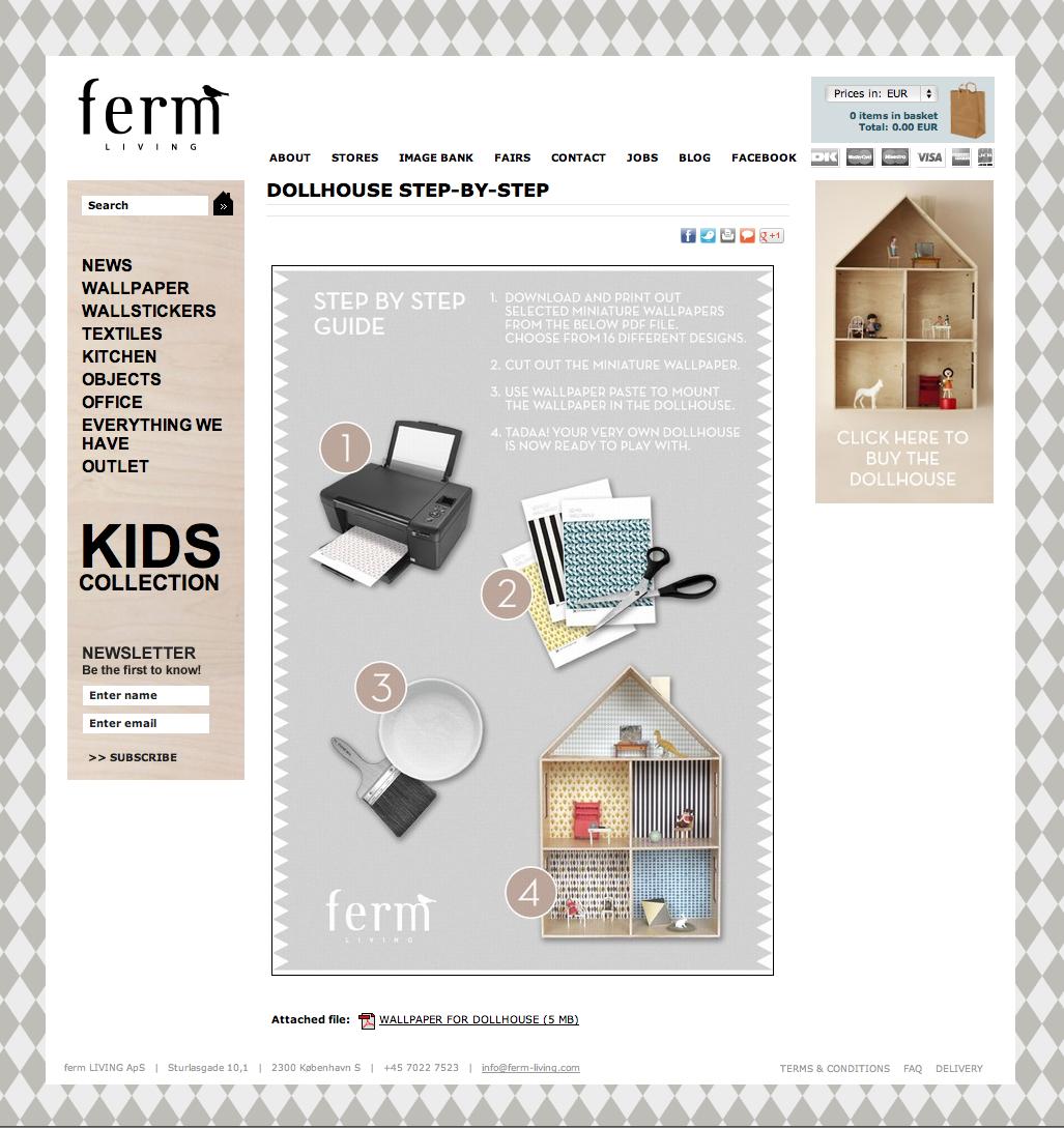 roomwit styling en ontwerp designroute interieur workout ferm living print behang voor mini. Black Bedroom Furniture Sets. Home Design Ideas
