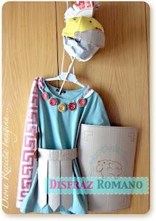 Disfraz Romano Reciclado