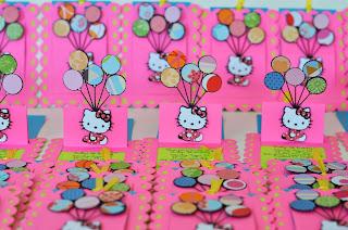 hello_kitty handmade banner convites invitaciones