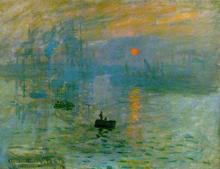 Impression, soleil levant (Impressão, nascer do sol) - arte impressionista