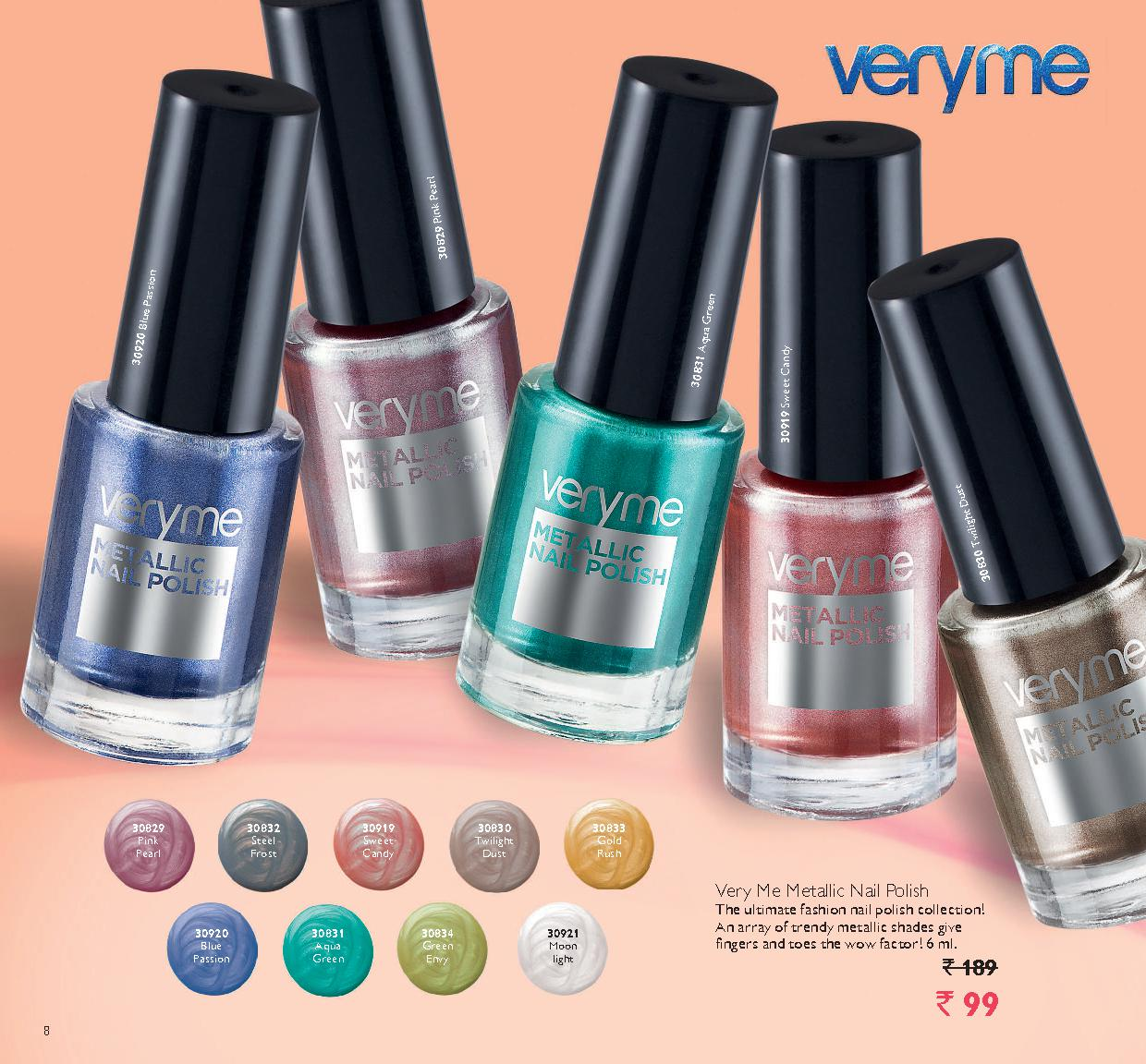Metalic Nail Polish - Awesome Product by Very Me! | Oriflame Offers ...