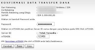Cara Mentransfer Uang Melalui Internet Banking BRI