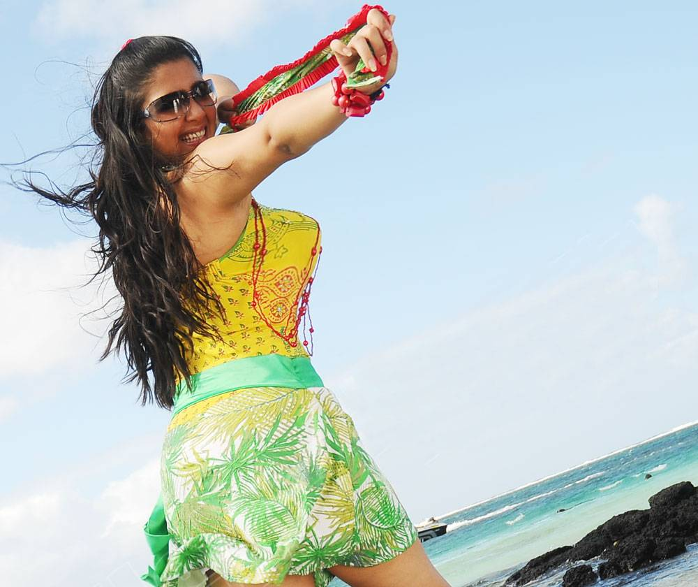 Charmee kaur beach wallpaper1 - Charmi Hot Beach Wallpapers