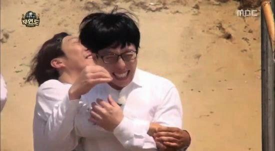 park myeong su Yoo Jae Suk Desert Island Infinity Challenge infinite challenge muhandojeon ink black water coconut Jeong Hyeong Don Haha Jeong Jun Ha video clip enjoy korea hui Korean Entertaninment Programs tenth anniversary