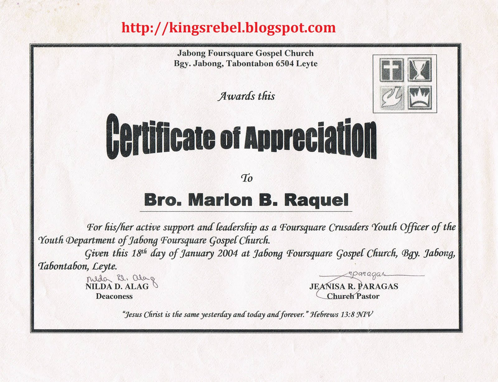 Examples of Certificate of Appreciation http://kingsrebel.blogspot.com/2011/01/example-of-certificate-of-appreciation_28.html