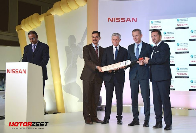 Nissan ICC Sponsorship Charu Sharma, Arun Malhotra, David Richardson, Roel de Vries and Guillaume Sicard
