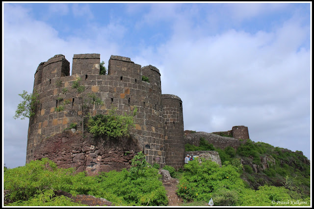 Entrance Bistion of Malhargad fort