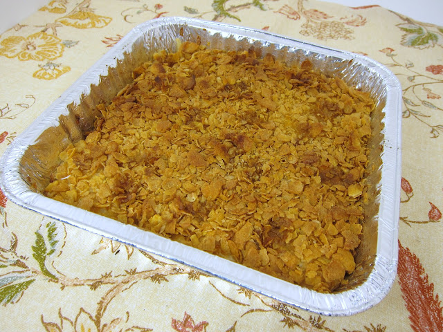 Cheesy Potato Casserole Recipe - frozen hash browns, cream of chicken soup, sour cream and cheddar cheese - freezes well for a super quick side dish.