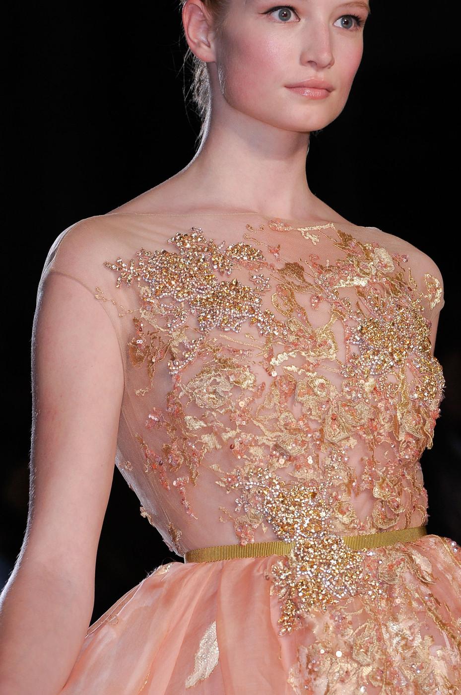 Elite model management blog maud for elie saab haute for Haute couture details