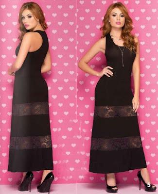Vestido negro sara uribe 2015