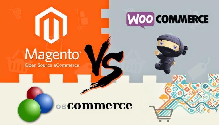 Woocommerce v/s Magento v/s oscommerce